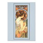 Art Nouveau Beautiful Bride Wedding Invitation