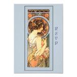 Art Nouveau Beautiful Bride Wedding RSVP Card Custom Invitations