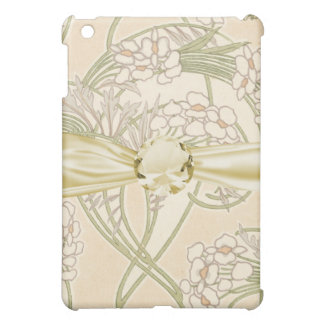 art nouveau beautiful spring floral pern iPad mini case