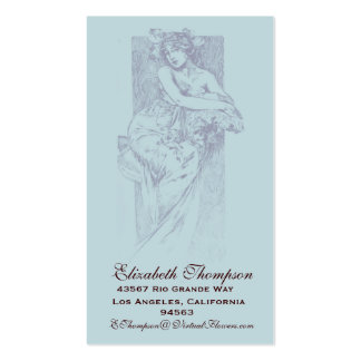 Art Nouveau Beauty Business or Name Card Double-Sided Standard Business Cards (Pack Of 100)