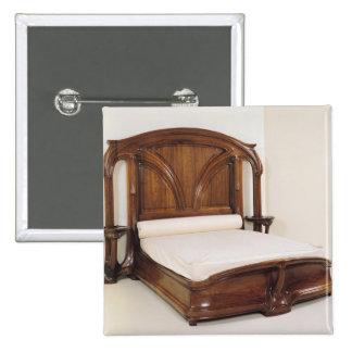 Art Nouveau bed, 1900 Pinback Button