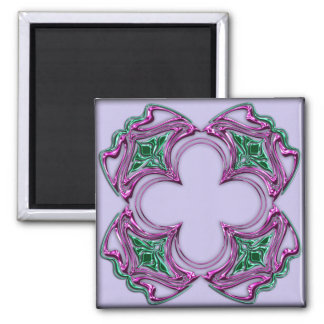Art Nouveau bejeweled square 2 Magnets
