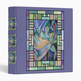 Art Nouveau Belly Dance (Portrait) 3 Ring Binder