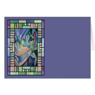 Art Nouveau Belly Dance (Portrait) Card