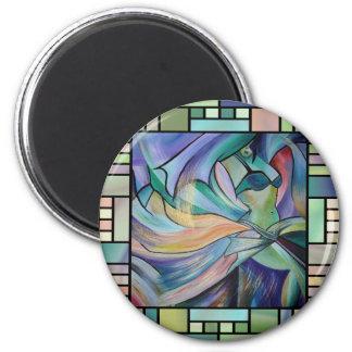 Art Nouveau Bellydance (Square) 2 Inch Round Magnet