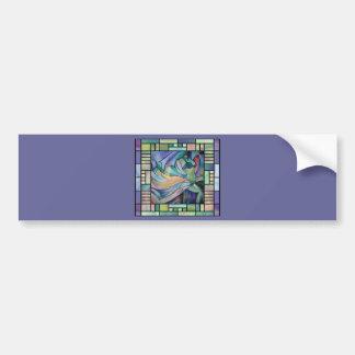 Art Nouveau Bellydance (Square) Bumper Sticker