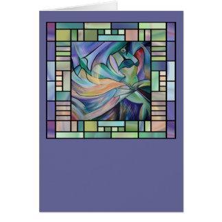 Art Nouveau Bellydance (Square) Card