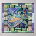Art Nouveau Bellydance (Square) print