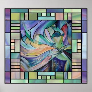 Art Nouveau Bellydance (Square) Poster