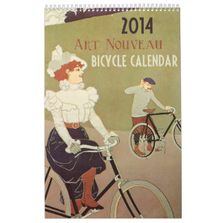 Art Nouveau Bicycle Calendar 2014 Vintage