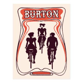 Art nouveau bicyle theme beer advertising postcard