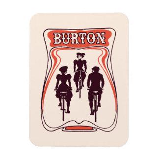 Art nouveau bicyle theme beer advertising rectangular photo magnet