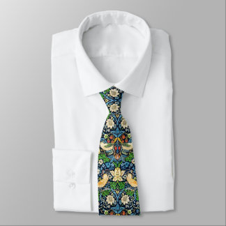 Art Nouveau Bird and Flower Tapestry Pattern Neck Tie