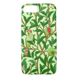 Art Nouveau Bird and Pomegranate, Lime Green iPhone 7 Case