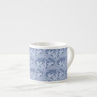Art Nouveau Birds and Trees Pattern Espresso Mugs