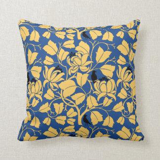 Art Nouveau Birds in The Tulip Tree Pattern PIllow
