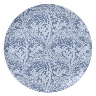 Art Nouveau Birds Through the Trees Pattern Plate