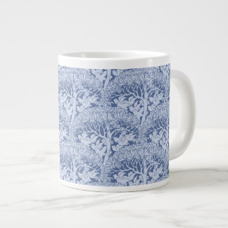 Art Nouveau Birds through Trees Pattern Jumbo Mug