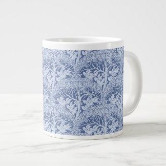 Art Nouveau Birds through Trees Pattern Jumbo Mug 20 Oz Large Ceramic Coffee Mug