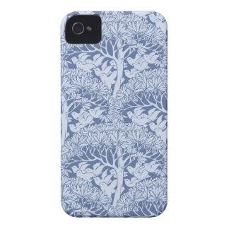 Art Nouveau Birds Trees Pattern iPhone 4 Case