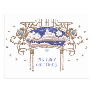 Art Nouveau Birthday Post Cards