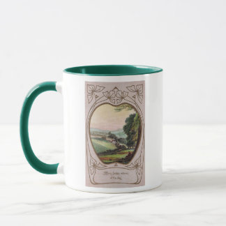 Art Nouveau Birthday Valley Vignette Mug