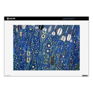 "Art Nouveau Blue Gold Gustav Klimt Pattern 15"" Laptop Skins"