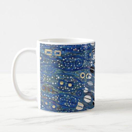 Art Nouveau Blue Gold Gustav Klimt Pattern Coffee Mug