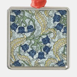 Art nouveau bluebells metal ornament