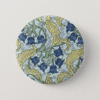 Art nouveau bluebells pinback button