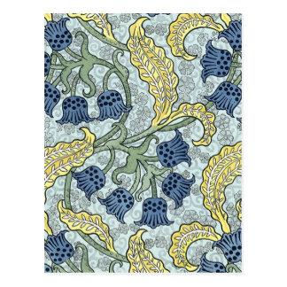 Art nouveau bluebells postcard