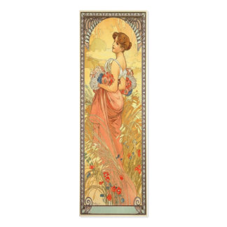 Art Nouveau Bookmark Double-Sided Mini Business Cards (Pack Of 20)