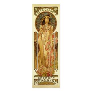 Art Nouveau Bookmark Mini Business Card