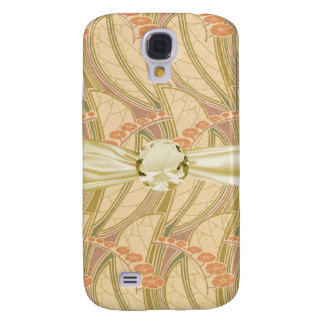 art nouveau botanical swirl pern design galaxy s4 case
