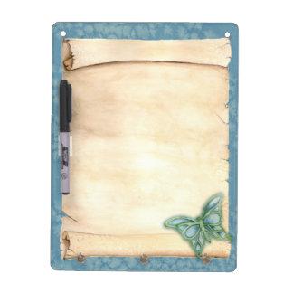Art Nouveau Butterfly Scroll Dry Erase Board