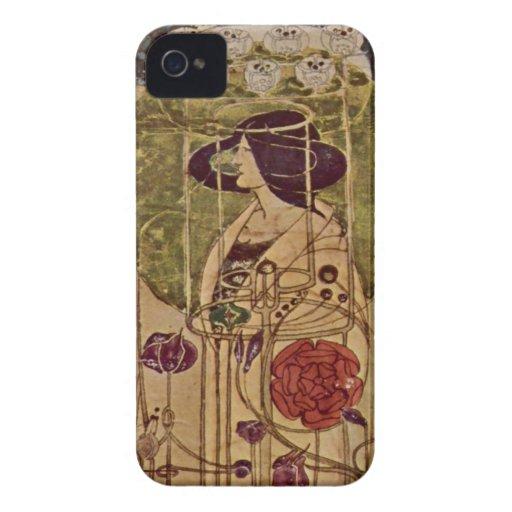 Art Nouveau - by Charles Renn - 2B iPhone 4 Covers