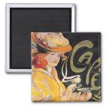 Art Nouveau Café Fridge Magnet