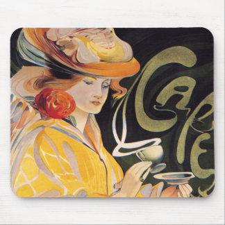 Art Nouveau Café Mouse Pad
