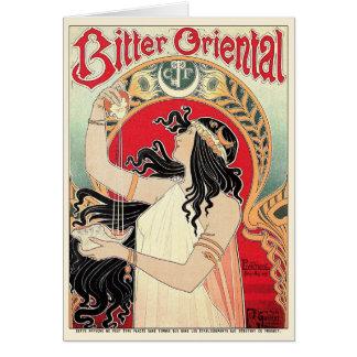 Art Nouveau Card: - Bitter Oriental Card