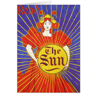 Art Nouveau Card or Invitation: The Sun