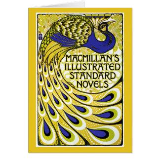 Art Nouveau Card: Peacock Illustration