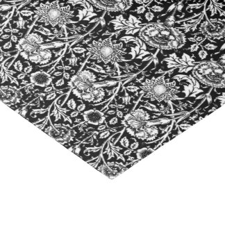 Art Nouveau Carnation Damask, Black and White Tissue Paper