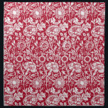 "Art Nouveau Carnation Damask, Red and White Cloth Napkin<br><div class=""desc"">Art Nouveau pattern based on a vintage William Morris floral damask wallpaper pattern,  digitally enhanced and colored in white on a deep Chinese red background</div>"