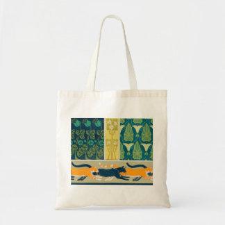Art Nouveau Cats and Flowers Tote Bag