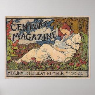 Art Nouveau - Century Magazine Poster print