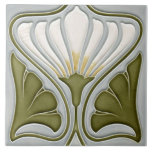 """Art Nouveau Ceramic Wall Tile<br><div class=""""desc"""">Gorgeous Art Nouveau ceramic wall tile.  Welcome all feedback & photo's of your purchases,  which could help someone in making the right choice for their project.</div>"""