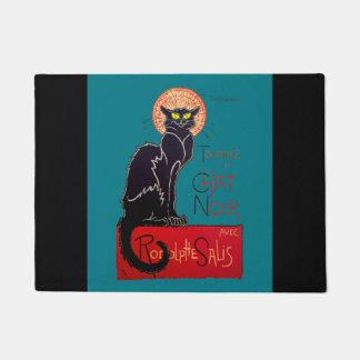 Art Nouveau Chat Noir Black Cat Doormat