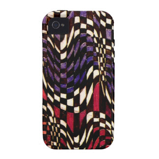 Art Nouveau Chequered Wave Pattern Case-Mate Vibe iPhone 4 Covers