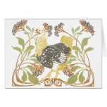 Art Nouveau Chickens Greeting Cards