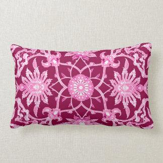 Art Nouveau Chinese Pattern - Burgundy Wine Pillow